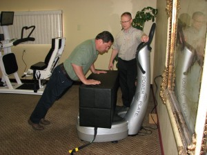Saint Cloud BStrong4Life Center exercising patients with Whole Body Vibration